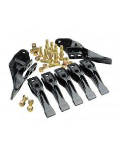 Pakiet 9 zębów JCB + śruby + nakrętki (PAKIET ZĘBÓW 9)